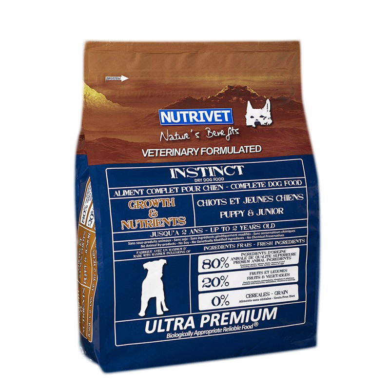 NUTRIVET INSTINCT GROWTH & NUTRIENTS
