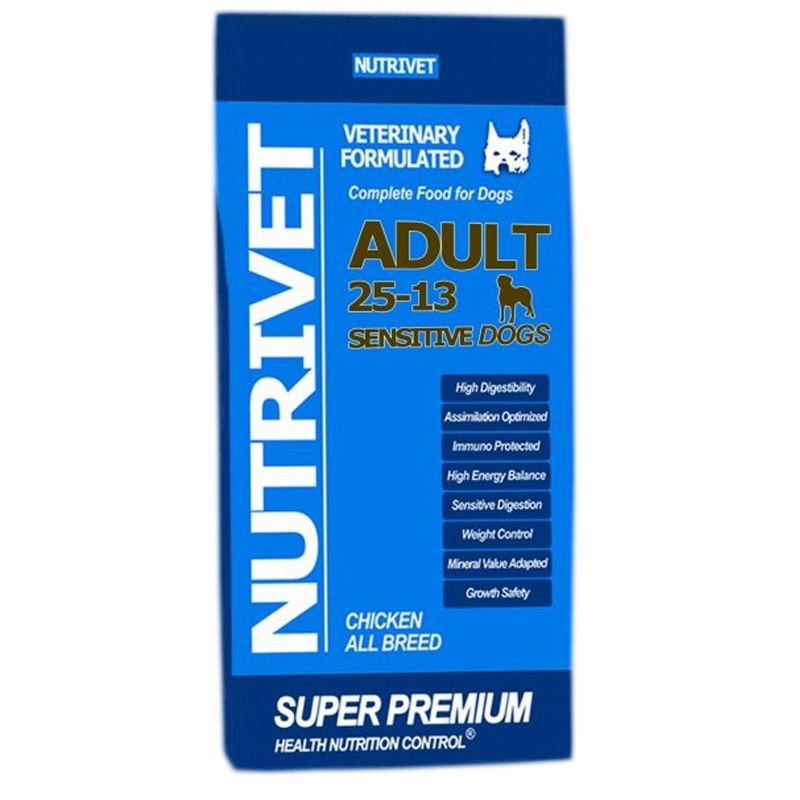 NUTRIVET SUPER PREMIUM SENSITIVE 25-13