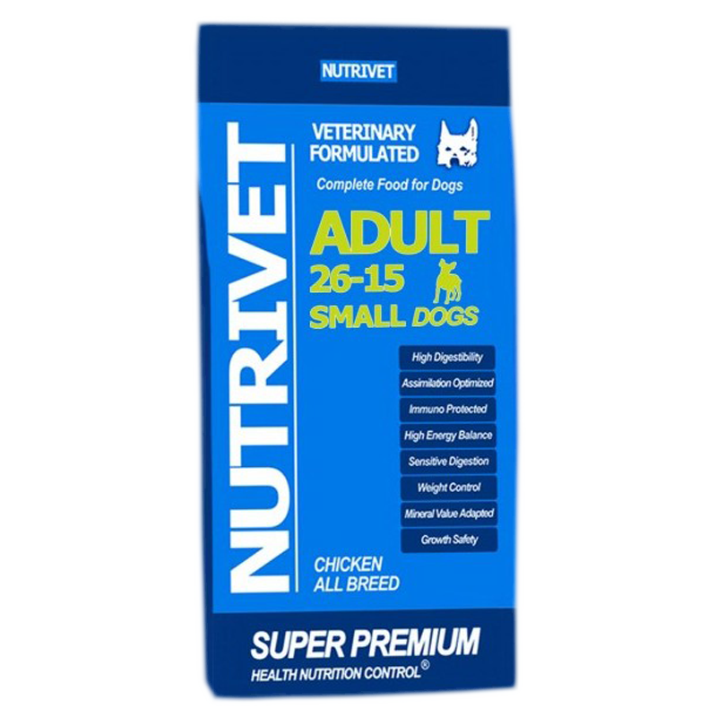 NUTRIVET SUPER PREMIUM ADULT SMALL 26-15