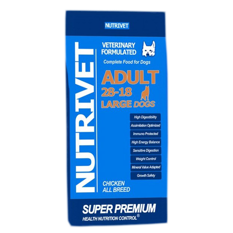 NUTRIVET SUPER PREMIUM ADULT LARGE 28-18