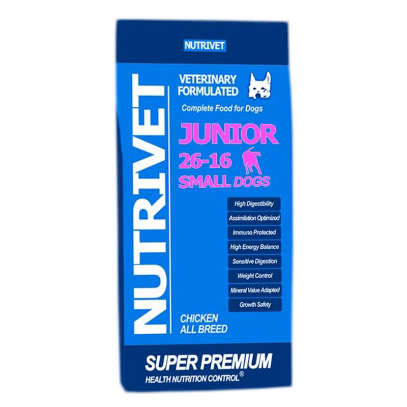 NUTRIVET SUPER PREMIUM JUNIOR SMALL 26-16