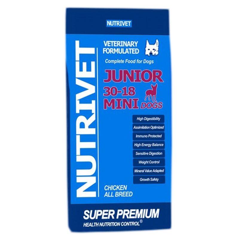 NUTRIVET SUPER PREMIUM JUNIOR MINI 30-18