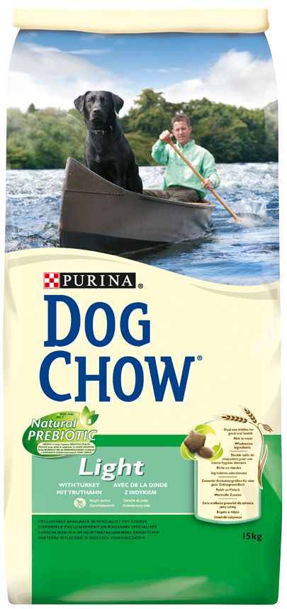 PRO PLAN DOG CHOW ADULT LIGHT DINDE & RIZ