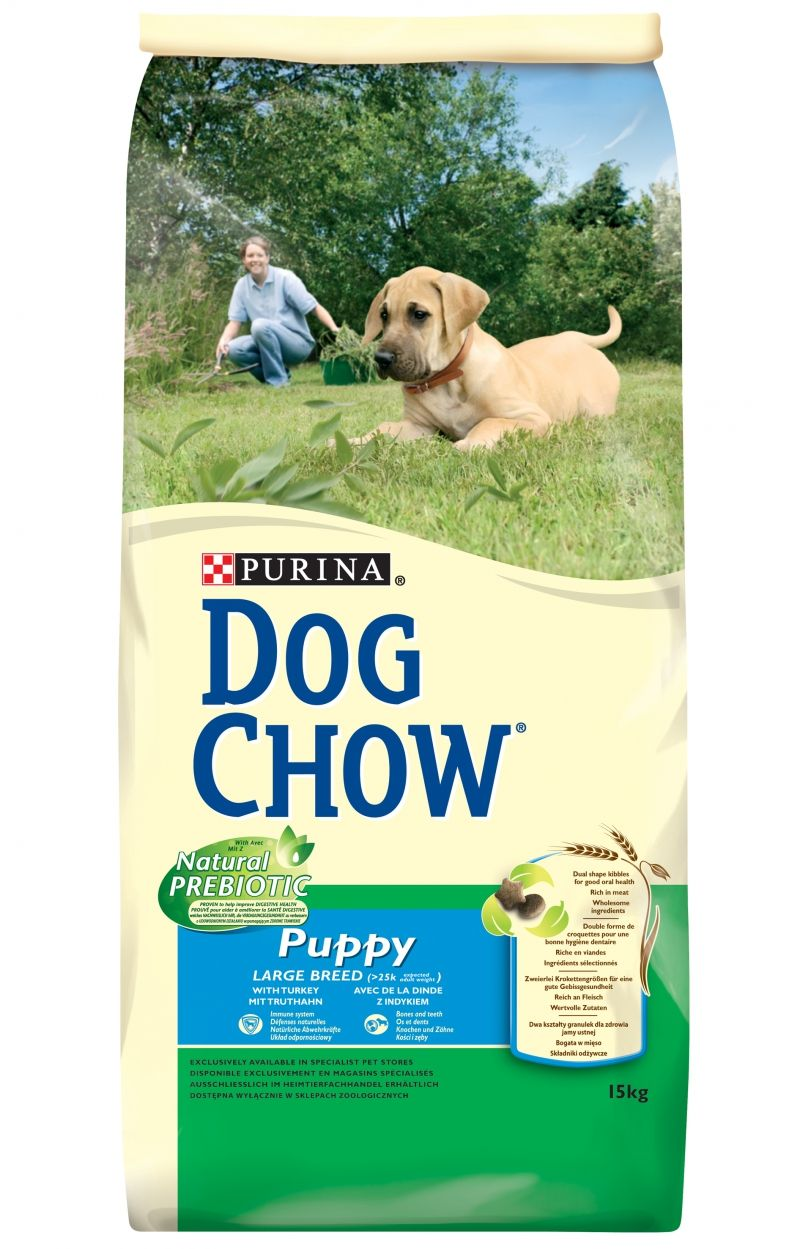 PRO PLAN DOG CHOW PUPPY LARGE BREED DINDE & RIZ