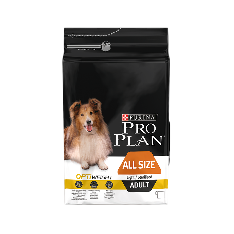 PRO PLAN ALL SIZE ADULT LIGHT/STERILISED AVEC OPTIWEIGHT