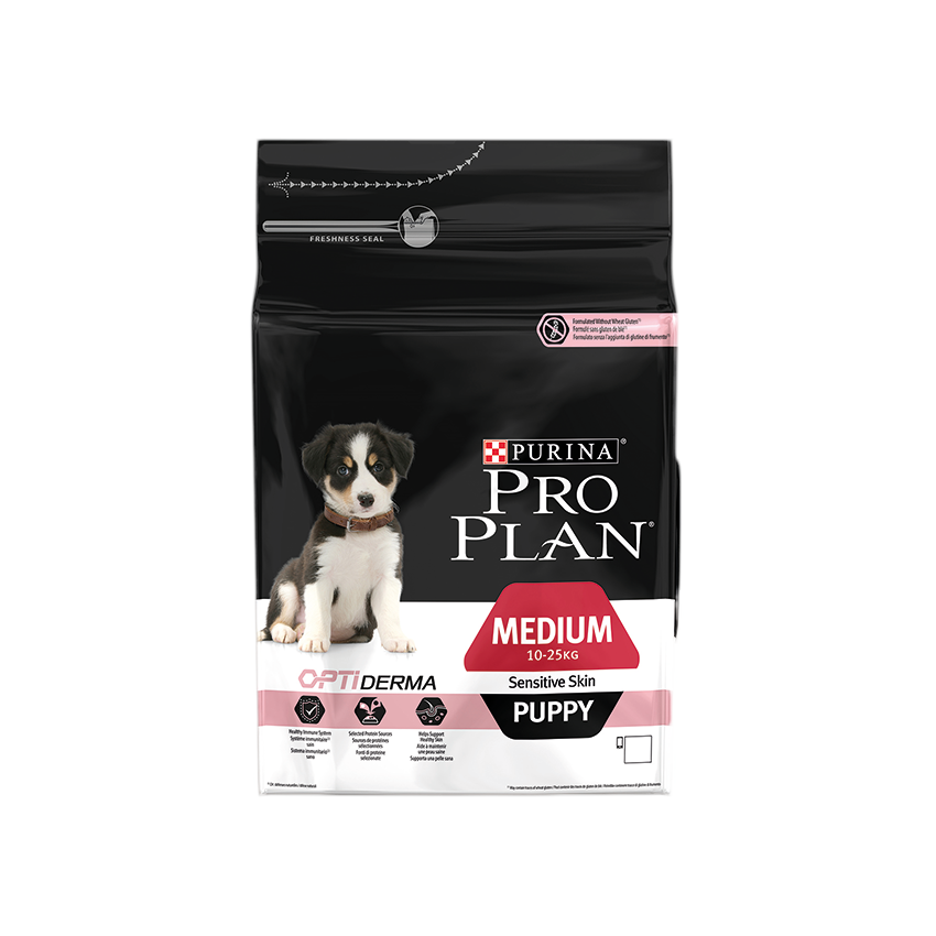 PRO PLAN MEDIUM PUPPY SENSITIVE SKIN AVEC OPTIDERMA