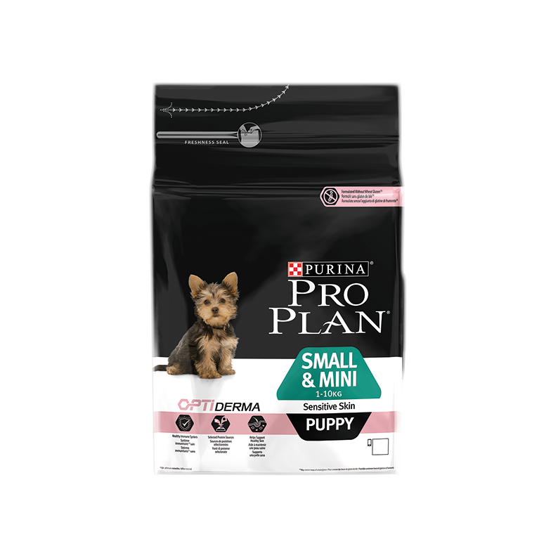 PRO PLAN SMALL & MINI PUPPY SENSITIVE SKIN AVEC OPTIDERMA