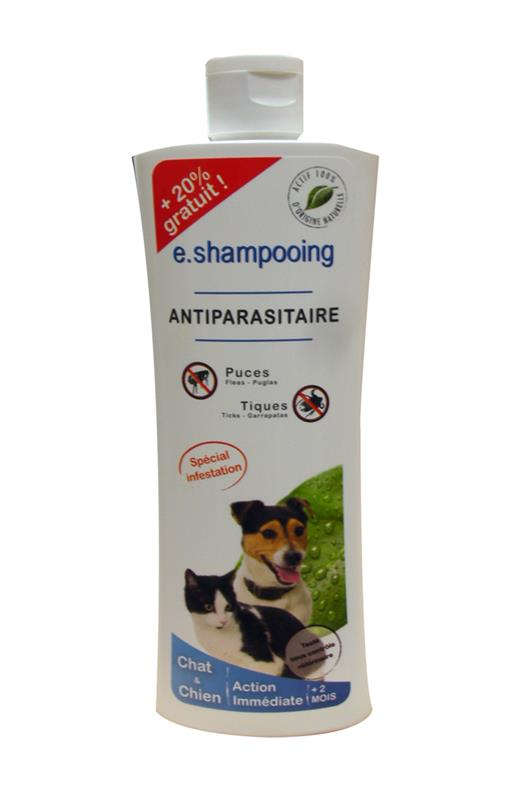 E.SHAMPOING 2 EN 1 ANTIPARASITAIRE CHAT/CHIEN