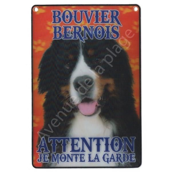 PLAQUE 3D ATTENTION JE MONTE LA GARDE BOUVIER BERNOIS