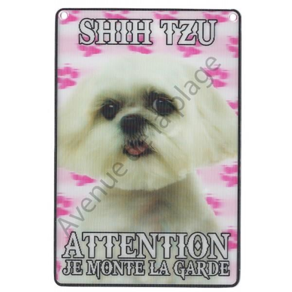 PLAQUE 3D ATTENTION JE MONTE LA GARDE BOULEDOGUE ANGLAIS
