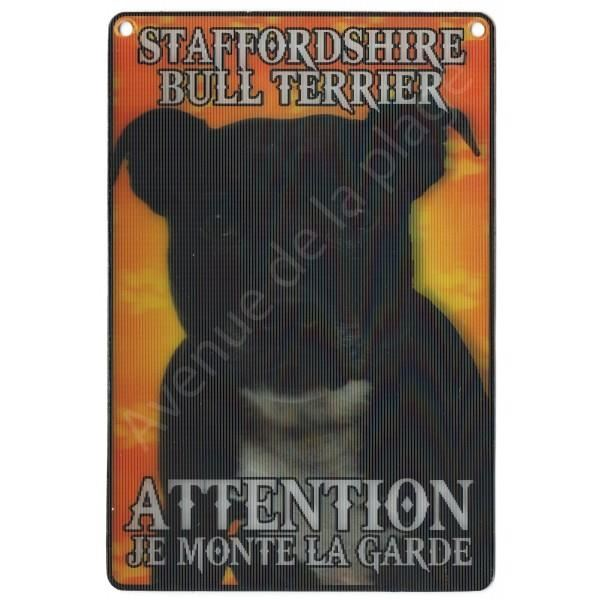 PLAQUE 3D ATTENTION JE MONTE LA GARDE STAFFORDSHIRE