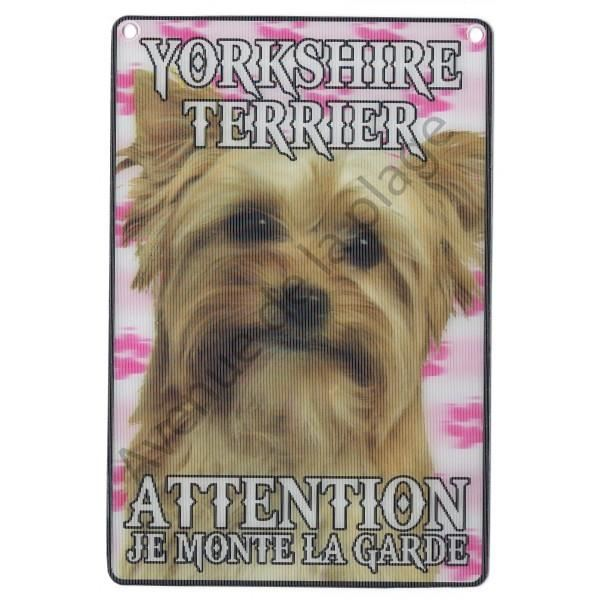 PLAQUE 3D ATTENTION JE MONTE LA GARDE YORSHIRE