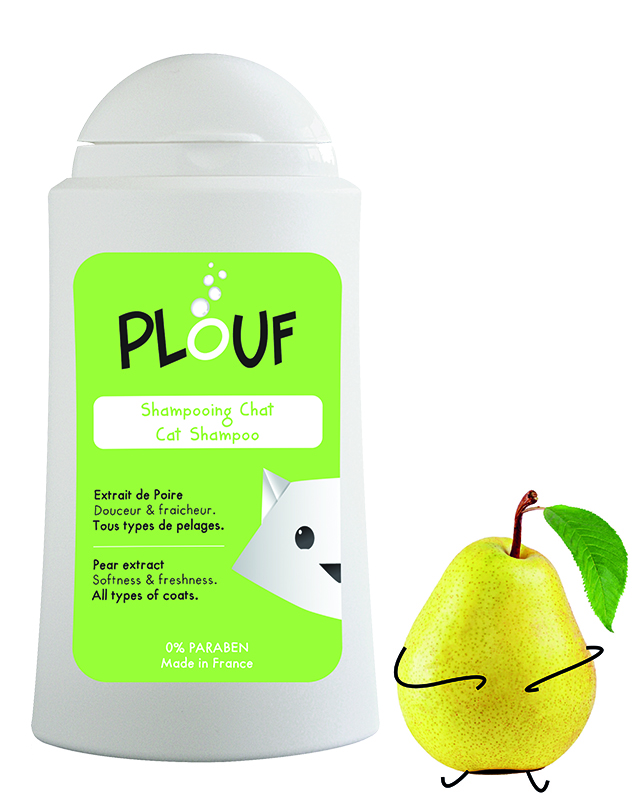 PLOUF SHAMPOING CHAT POIRE