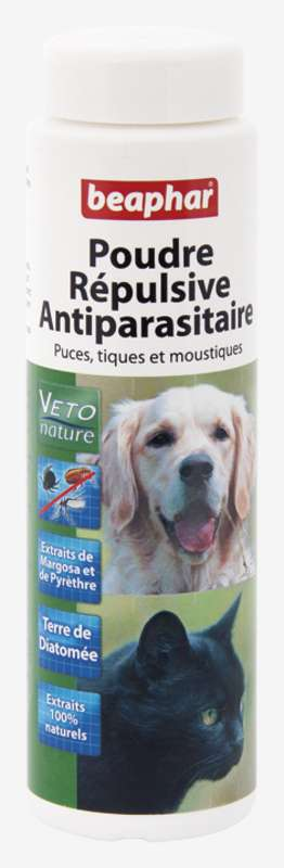 POUDRE REPULSIVE ANTIPARASITAIRE CHAT/CHIEN MARGOSA